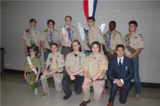 2016 Eagle Scouts at District Dinner
